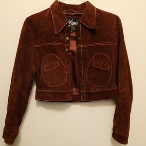 Genuine Wilson's Leather jacket in brown suede